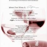 捷成法国波尔多佳酿品酒晚宴/Jebsen Fine Wines – Wine dinner