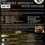 罗伯特蒙大菲品酒晚宴翡翠皇宫酒家/ ROBERT MONDAVI WINE DINNER Crystal Jade Palace Restaurant