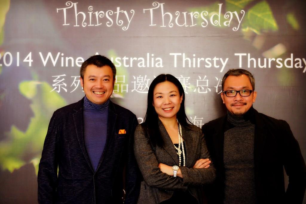 三位评委(左起Martin Hao, Dorian Tang, Andy Tan)
