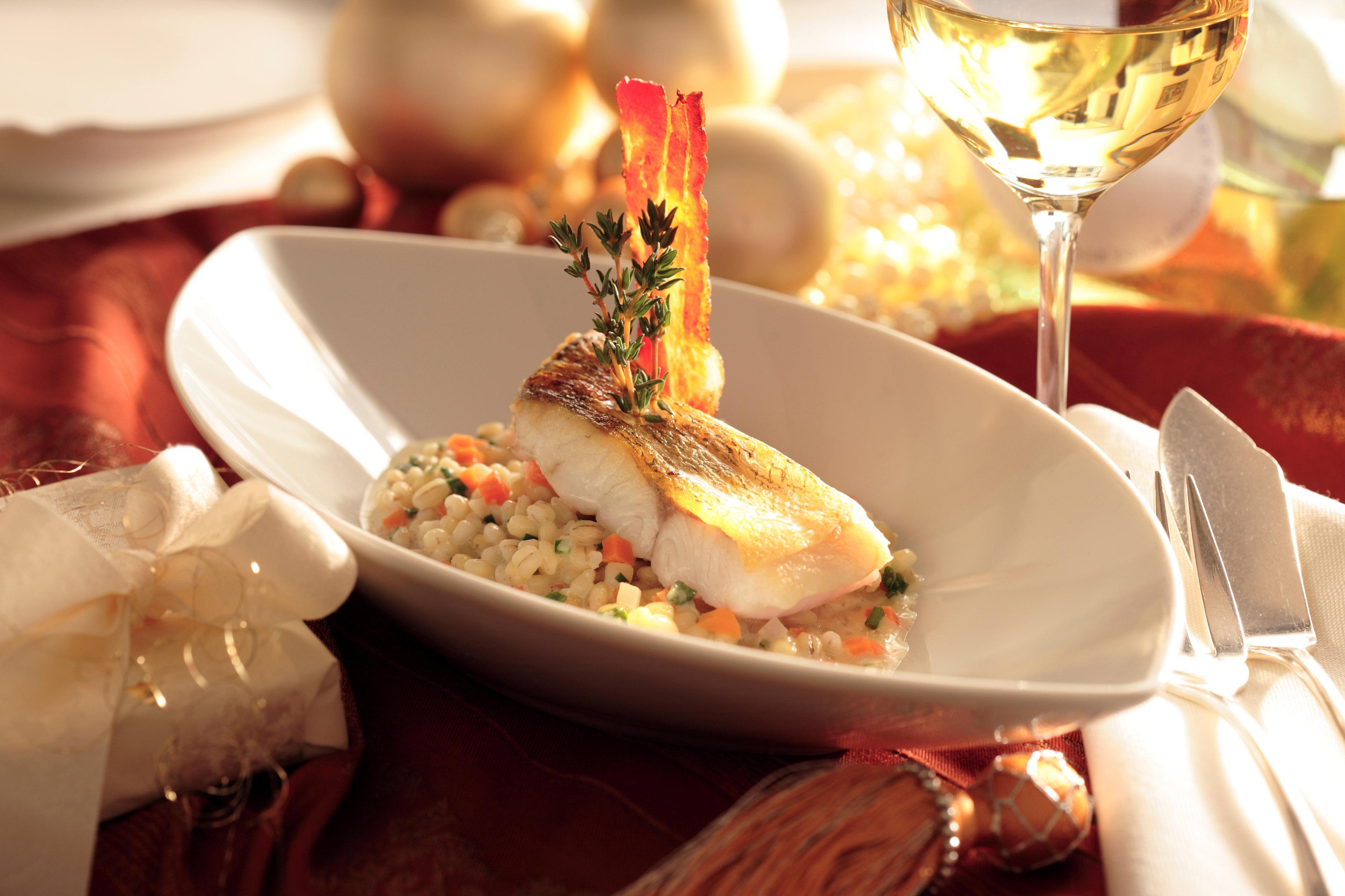 Wein und Speisen, Weihnachtliches Menü