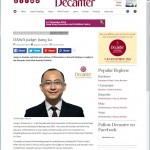 Decanter Asia Wine Awards  judge:  Jiang Lu (Maxime LU) -Decanter亚洲葡萄酒大赛评委: 陆江