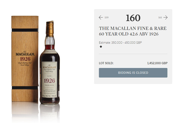 国际酒类拍卖新纪录!一瓶700毫升的酒,价值千万元人民币,相当于京产小别墅一套