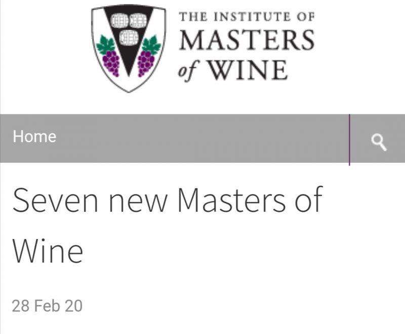 第一位中国籍女葡萄酒大师(Master of Wine,MW)